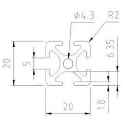 Aluminiumsprofil 20x20