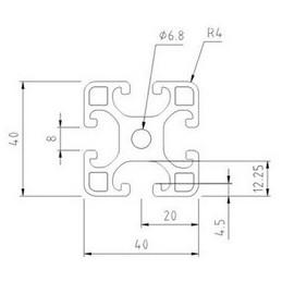Aluminiumsprofil 40x40